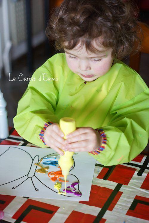 activit manuelle enfant 2 3 ans papillon peinture. Black Bedroom Furniture Sets. Home Design Ideas