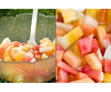 Exotisk enkel fruktsallad (efterrätt)