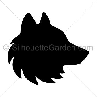 Wolf head silhouette clip art. Download free versions of the image in EPS, JPG, PDF, PNG, and SVG formats at http://silhouettegarden.com/download/wolf-head-silhouette/