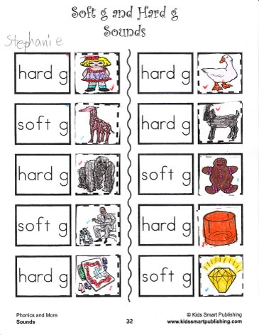 Printables Hard And Soft G Worksheets phonics worksheets kid and cut paste on pinterest