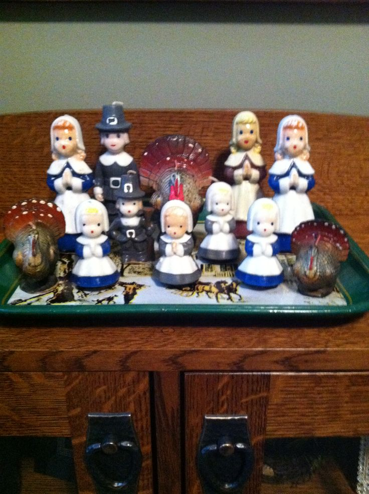 Vintage Gurley Candles. Mom had the Christmas ones, but I don't recall seeing these Thanksgiving pieces!