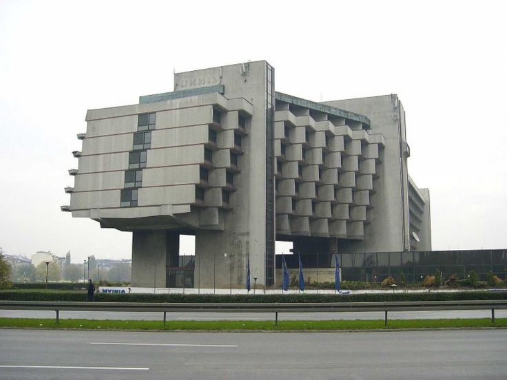 The Forum Hotel in Krakow, Poland, is another example of how 1970s communist architects simply couldn't resist lifting ugly buildings off the ground.