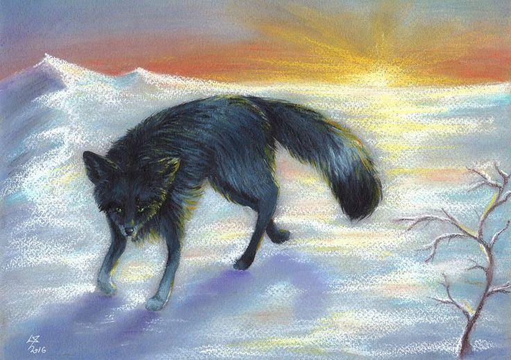 Kiriban Dark-Arctic-Fox by Lelixiana
