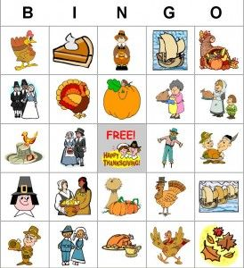 free thanksgiving bingo cards. This site is great! You can customize your bingo (other holidays/events available). But best of all, you can print as many different cards as you need!