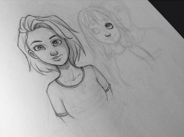 Sketching by itslopez on deviantART | girl with short hair
