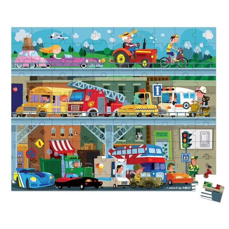 Puzzle  v krásném kulatém kufříku od francouzské firmy Janod jsou vhodné pro děti od 5 do 8 let.