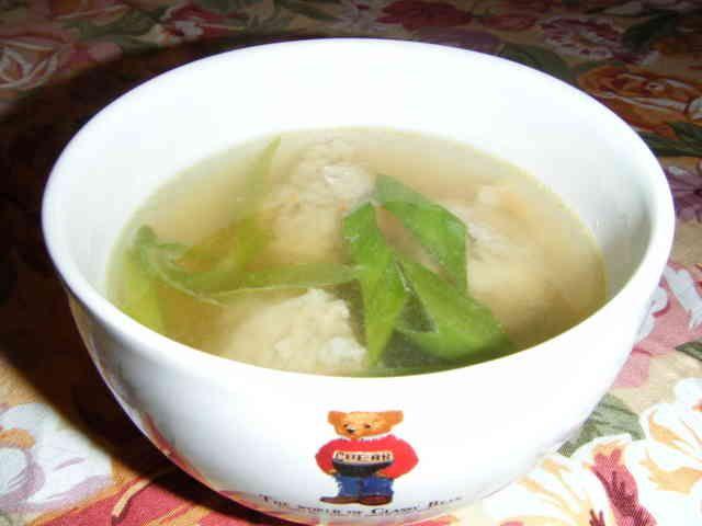 簡単♪とりごぼうすり身のスープ♪の画像