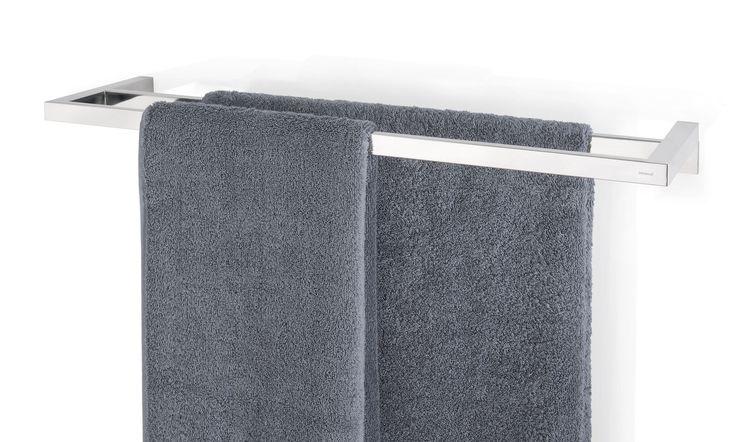 Erg handig voor in de badkamer. Bevestig dit handdoekrek aan de muur en je kunt er meerdere handdoeken aan kwijt.
