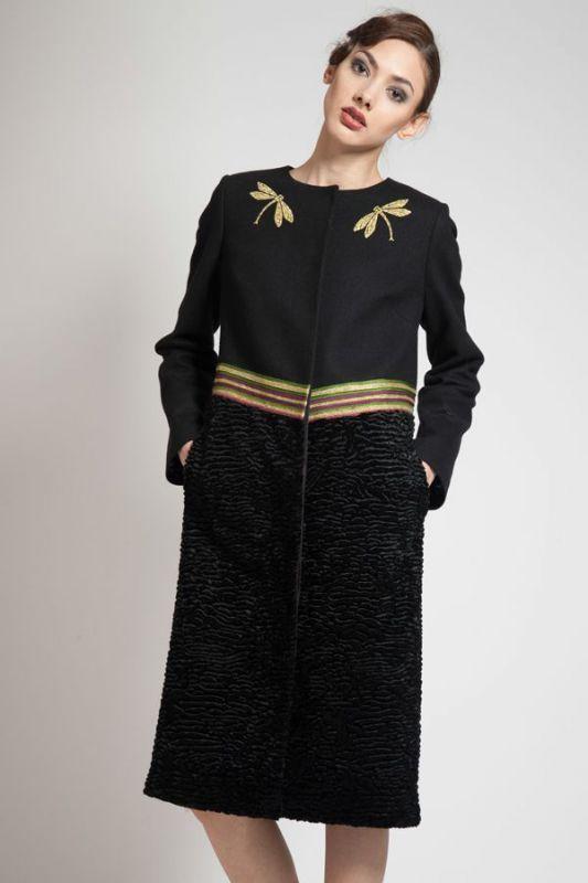 Пальто женское с вышивкой Ксения Князева (Россия), 9044-160702