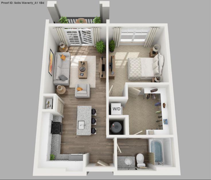 Bedroom Floor Image Plan Result Image Result For 1 Bedroom 3d Floor Plan Studio Apartment Floor Plans Apartment Floor Plans House Plans