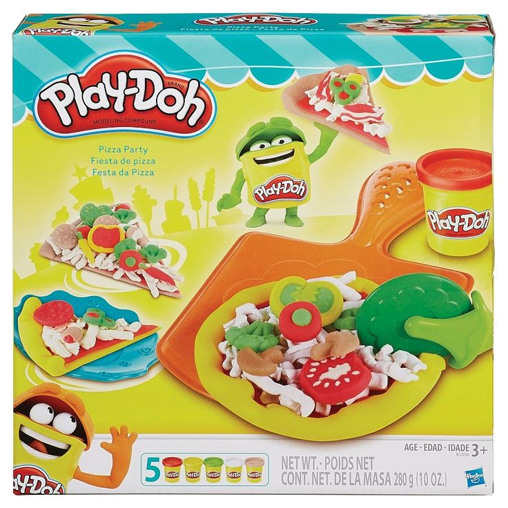Play-Doh Pizza Party Set, Modeling Doughs and Clays