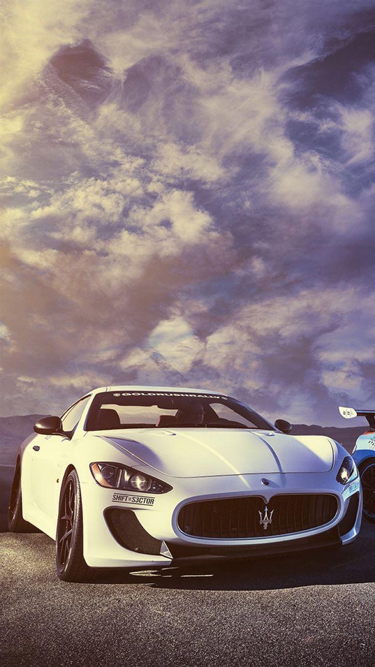 Splendid Maserati Sports Car Sky View #iPhone #6 #wallpaper