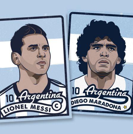 Messi or Maradona?? Prints available via my website. :-)