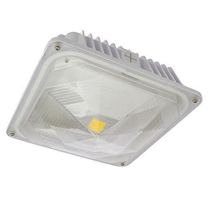 LED 35 Watt Outdoor Canopy Ceiling Light Fixture Neutral White Lamp Garage Room #LEDwholesalers