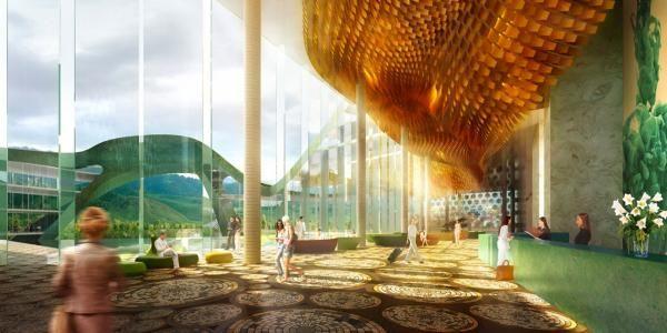 Project Zhong Fang Blue Globe Hotel Holzer Kobler Architekturen