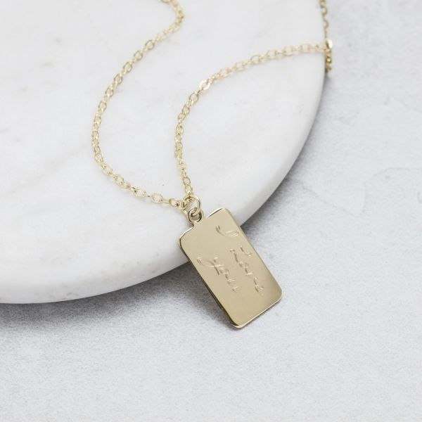 Personalised Tiny Tag  Message Pendant