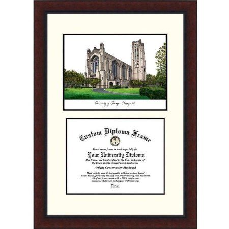 university of chicago 9 x 12 legacy scholar diploma frame multicolor