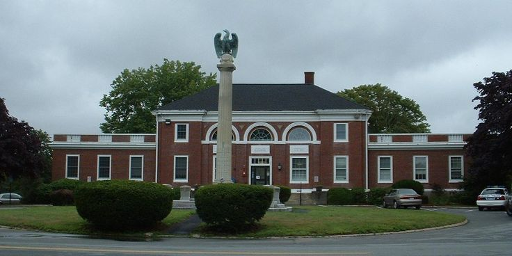 Bourne Town Hall in Barnstable County, Massachusetts.