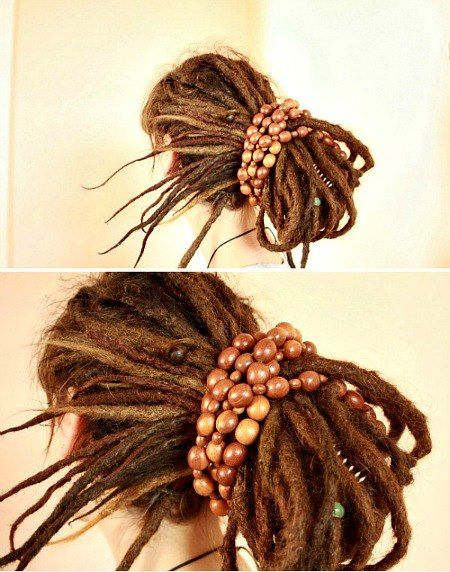 BEADED ELASTICS:  For mature dreads so they would have to be big.  I can message you the size.