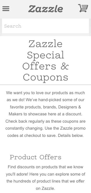 Zazzle money-off coupons so you save on personalized gifts. Click/tap for coupon code...