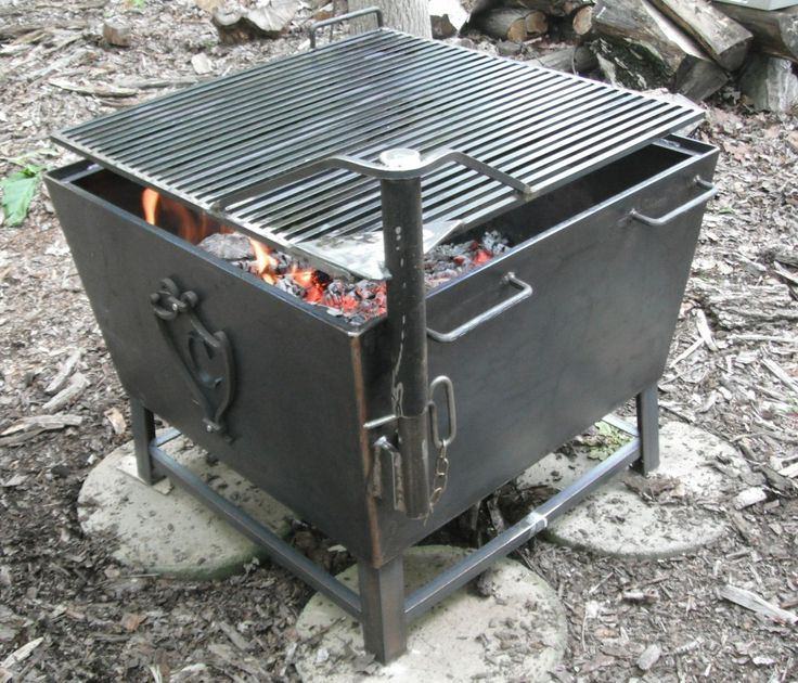 Cube Cowboy Fire Pit Grill
