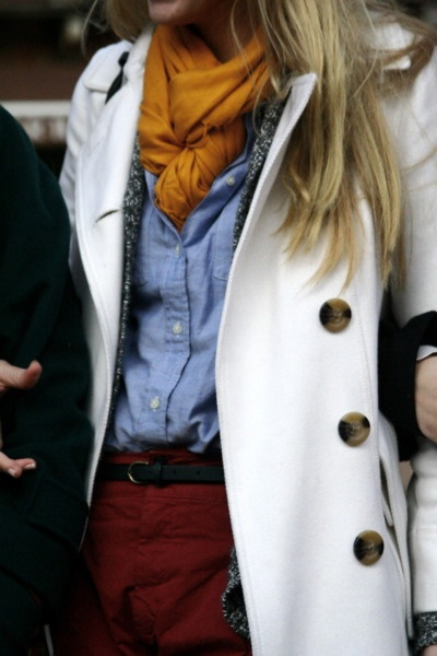 mustard + denim + trench... hey, i have all these pieces, i should put them together...