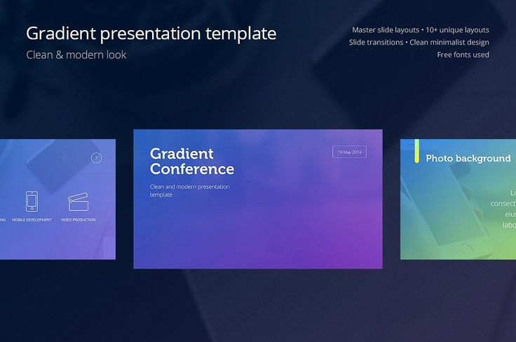 Gradient Presentation Template - Presentations - 1