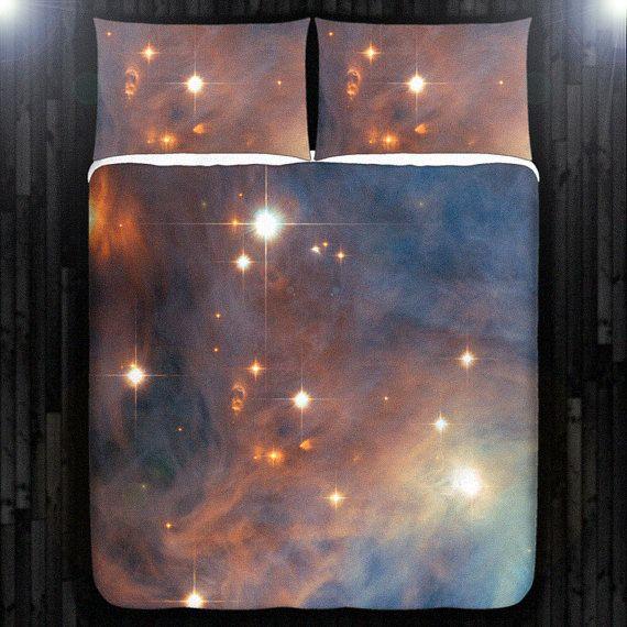 Nebel Galaxie Planeten Weltraum Duvet Cover von DUVETCOVER auf Etsy