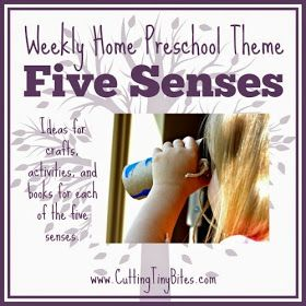 Cutting Tiny Bites: The Five Senses- Weekly Home Preschool Theme