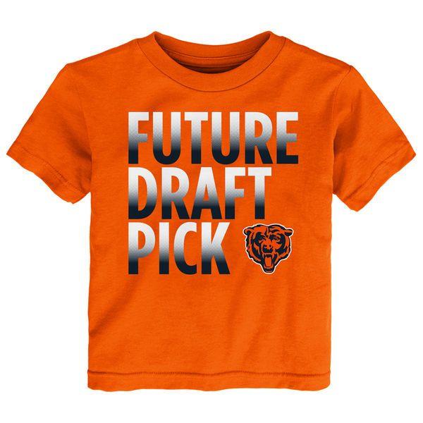Chicago Bears Preschool Future Draft Pick T-Shirt - Orange - $17.99