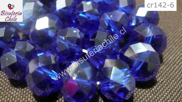 Cristal 10 x 8 mm, azul transparente, set de 20 unidades | Bisuteria, Bisuteria Chile, venta de insumos para bisuteria, dijes, colgantes, piedras naturales, cadenas, terminales