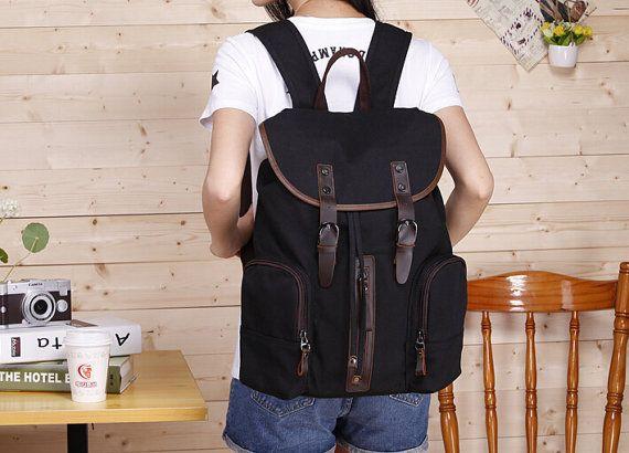 15'' Laptop Bag/ Macbook Bag/ Canvas Leather by FashionCanvasShop, $52.00