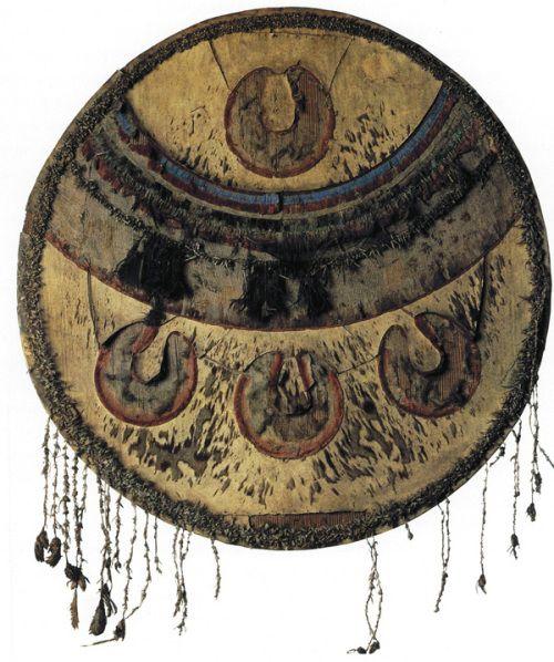 Chimalli, escudo azteca. Símbolo de guerra.