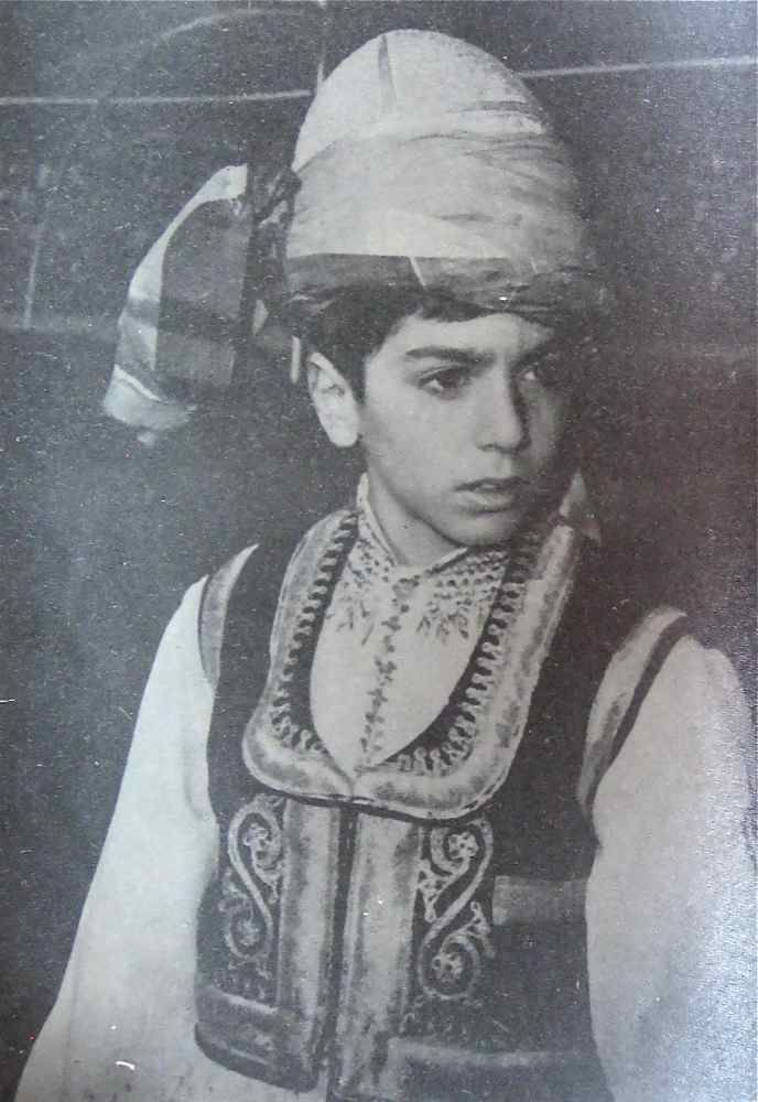 Reza Pahlavi (born October 31, 1960) in native Khorasani attire, late 1960's, Iran -