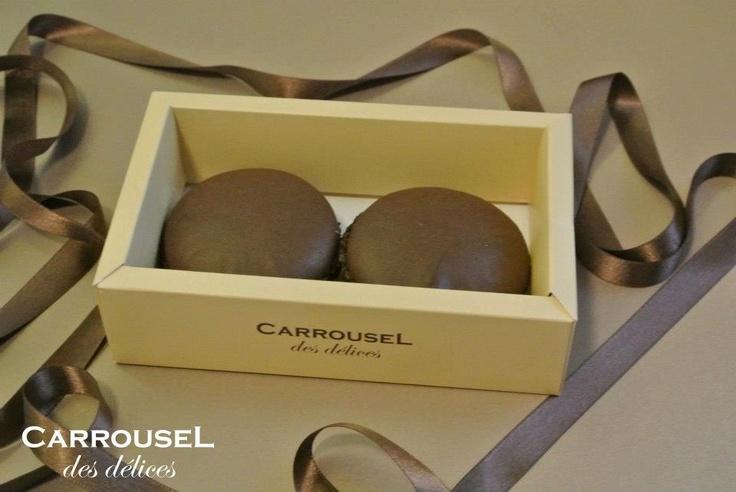 macarons fondant de ciocolată