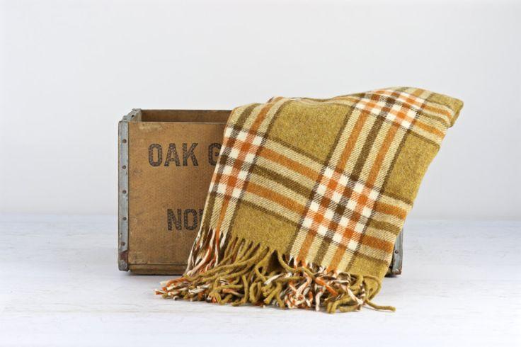 Vintage Wool Blanket, Plaid Wool Blanket, Pendleton Wool Blanket, Wool Throw Plaid Stadium Blanket, Tartan Plaid Blanket, Vintage Throw by HuntandFound on Etsy