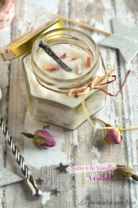 recette cadeau de noël gourmand - sucre à la vanille et à la rose   Christmas gift - sugar (vanilla and rose) #vegan   http://www.la-gourmandise-selon-angie.com/archives/2014/11/26/30847725.html
