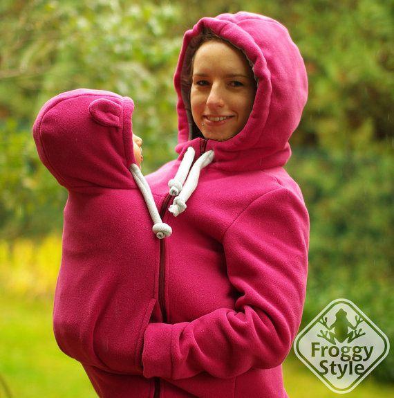 Best Babywearing Jacket FROGGY STYLE kangaroo by FroggyStylePL