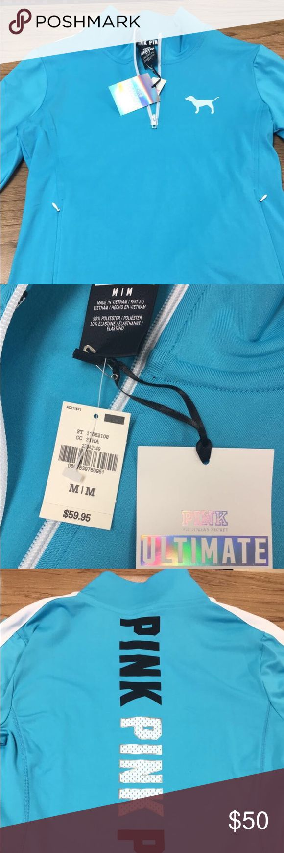 VS PINK ultimate deep zip NWT! size M. Never worn. Will trade for Nike Dri-Fit Black leggings, or other VS merchandise . Let me know ladies! Happy shopping :) PINK Victoria's Secret Tops Sweatshirts & Hoodies