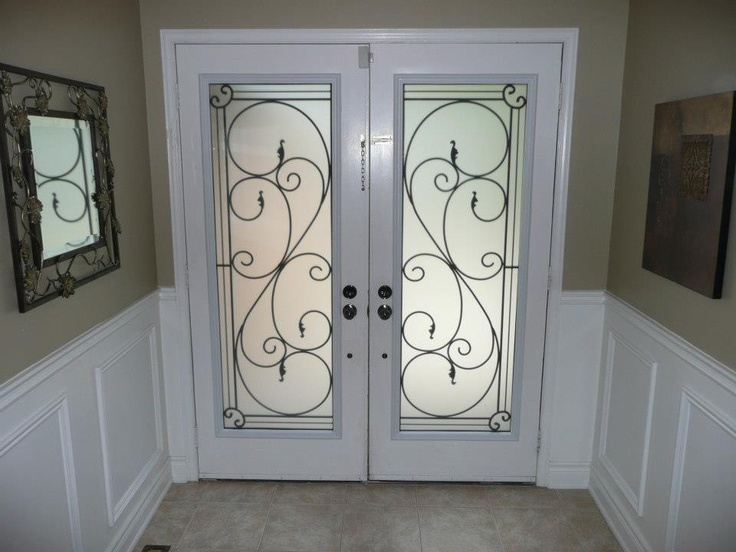 Flamingo Bay Wrought Iron Glass Door Installation