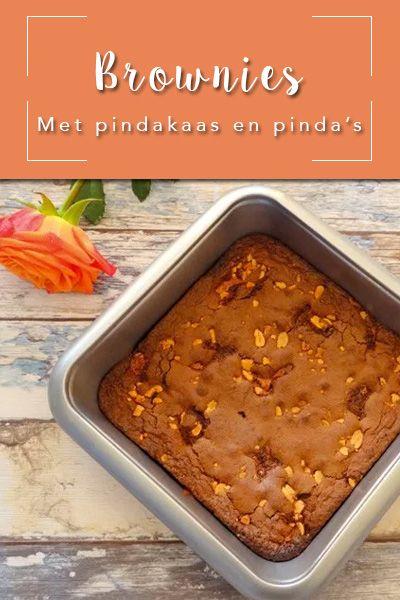 Hanneke van de website Culinea heeft namelijk een lekker recept gemaakt van brownies met pindakaas en pinda's, heerlijk voor bij de koffie!