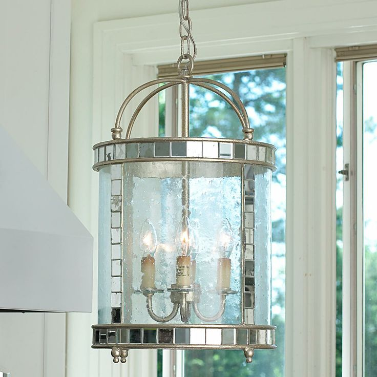 Mirror Mosaic Lantern Antique Tiles Silver Leaf And Clear Ripple Glass Combine To Bring This Sparkling Fixture With Elegant