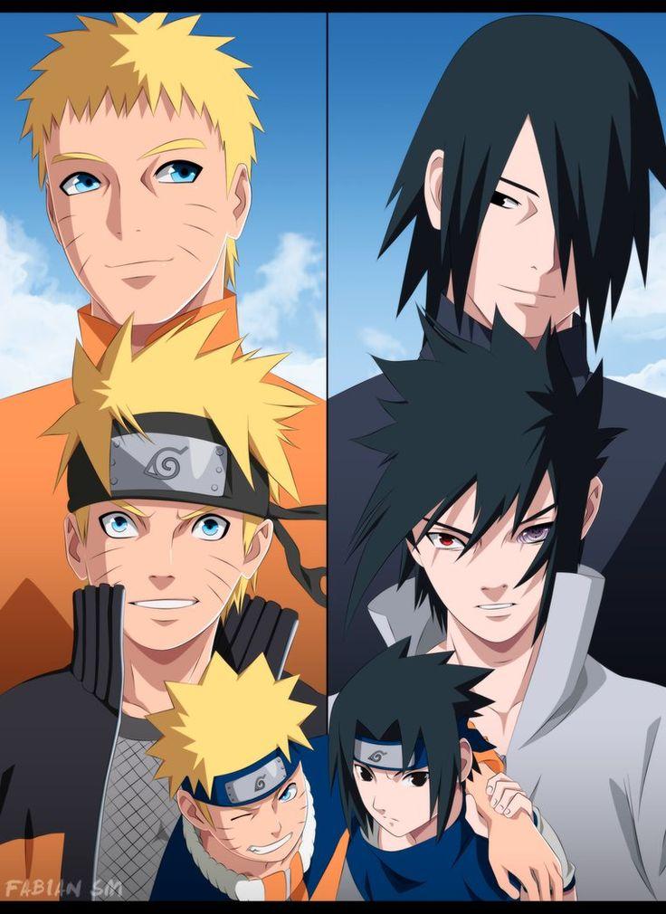 Naruto and Sasuke by FabianSM