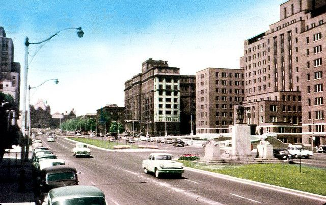 University Avenue, Toronto, 1954
