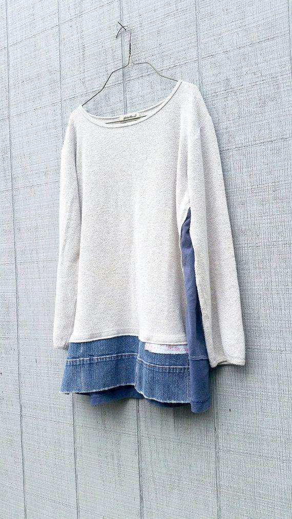 Vestido de suéter floja reciclado de ropa vestido