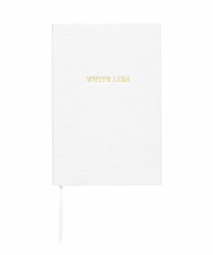 "Cuaderno A6 ""White Lies"" Disponible en: http://vbinspiration.com/disenadores/sloane-stationery/agenda-a6-white-lies.html"