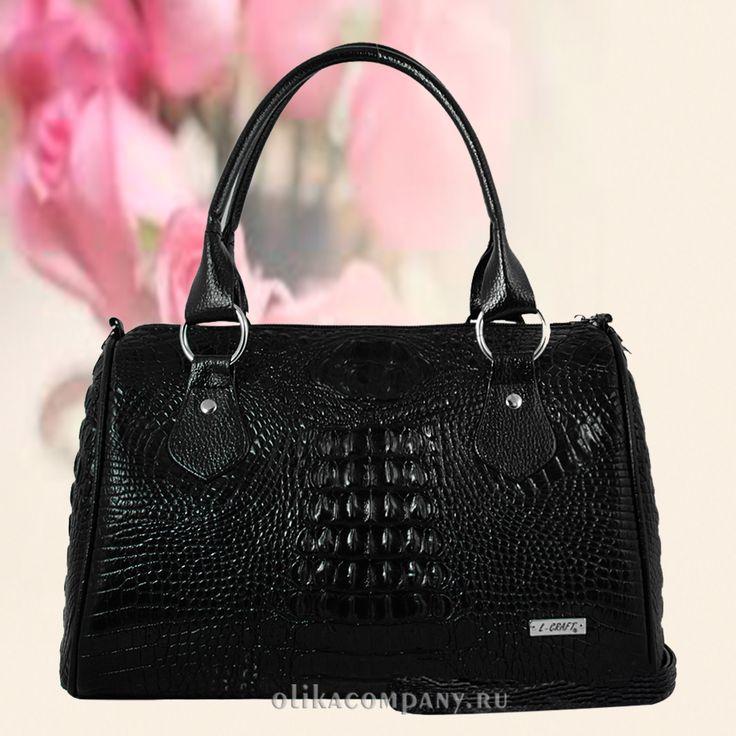 Женская сумка 857-2 крокодил черная Размеры 30*13*19 см Цена 1800 руб В наличии Быстрая доставка, оплата при получении. Производство Россия, Санкт-Петербург
