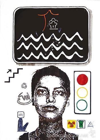 La Nueva Nefer y el mar. Serie La Nueva Nefer. 2001. Tinta y acuarela/papel. Alma Ajo