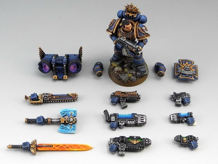 Awesome idea and painting on this Ultramarine. Credit - unknown - please tell me if you know.