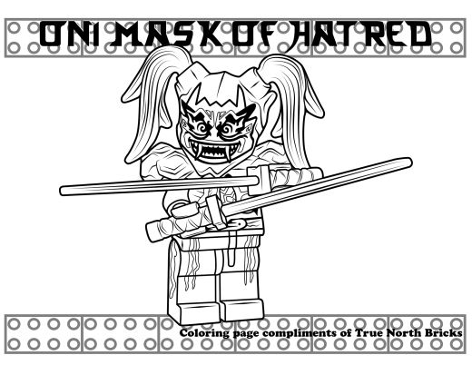 Coloring Page Oni Mask Of Hatred True North Bricks Ninjago Ausmalbilder Ausmalen Ausmalbild